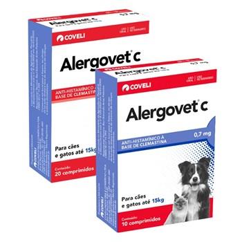 Anti-inflamatório Alergovet Cães e Gatos 0,7mg