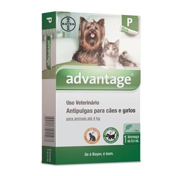 Antipulgas Advantage P Cães e Gatos até 4Kg