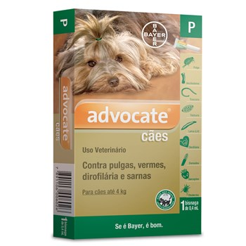 Antipulgas e Carrapato Advocate Cães até 4Kg