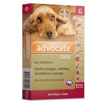 Antipulgas e Carrapato Advocate Cães de 10Kg até 25Kg