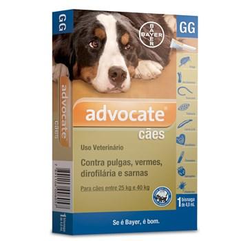 Antipulgas e Carrapato Advocate Cães de 25Kg até 40Kg