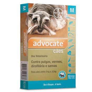 Antipulgas e Carrapato Advocate Cães de 4Kg até 10Kg