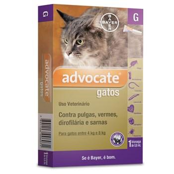 Antipulgas e Carrapato Advocate Gatos de 4Kg até 8Kg