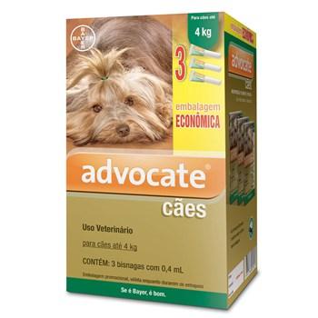 Antipulgas e Carrapato Combo Advocate Cães até 4Kg