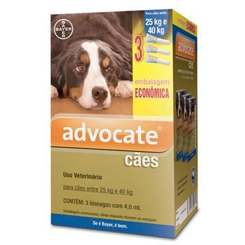 Antipulgas e Carrapato Combo Advocate Cães de 25Kg até 40Kg
