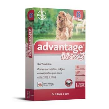 Antipulgas e Carrapatos Advantage Max3 G Cães de 10Kg até 25Kg