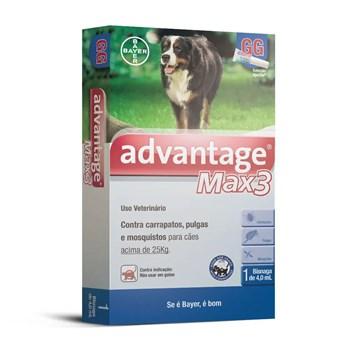 Antipulgas e Carrapatos Advantage Max3 GG Cães Acima de 25Kg