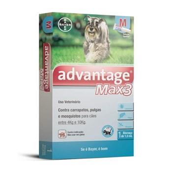 Antipulgas e Carrapatos Advantage Max3 M Cães de 4Kg até 10Kg