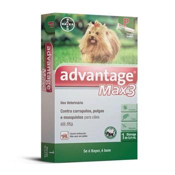Antipulgas e Carrapatos Advantage Max3 P Cães até 4Kg