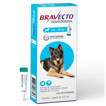 Antipulgas e Carrapatos Bravecto Transdermal Cães de 20Kg até 40Kg