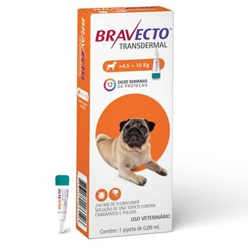 Antipulgas e Carrapatos Bravecto Transdermal Cães de 4,5Kg até 10Kg