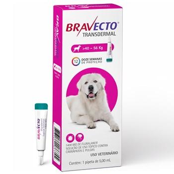 Antipulgas e Carrapatos Bravecto Transdermal Cães de 40Kg até 56Kg