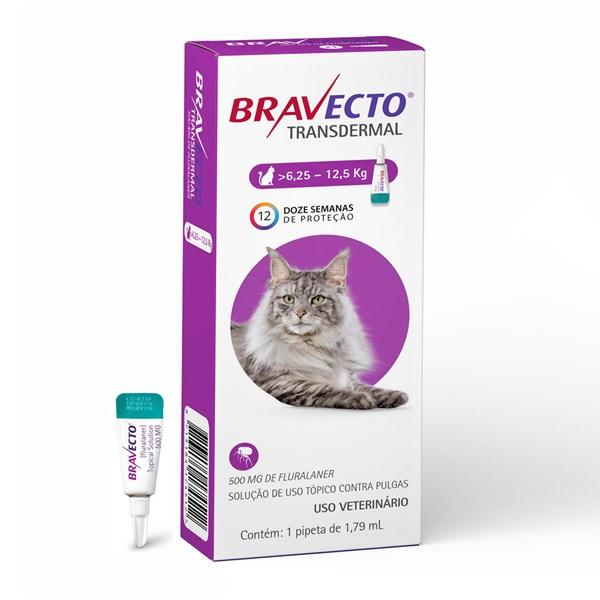 Antipulgas e Carrapatos Bravecto Transdermal Gatos de 6,25Kg até 12,5Kg