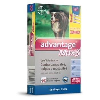 Antipulgas e Carrapatos Combo Advantage Max3 GG Cães Acima de 25Kg