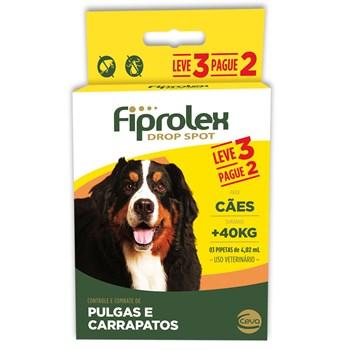 Antipulgas e Carrapatos Combo Fiprolex Drop Spot Cães Acima de 41Kg