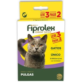 Antipulgas e Carrapatos Combo Fiprolex Drop Spot Gatos