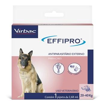 Antipulgas e Carrapatos Effipro Cães de 20Kg até 40Kg