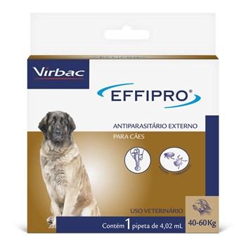 Antipulgas e Carrapatos Effipro Cães de 40Kg até 60Kg