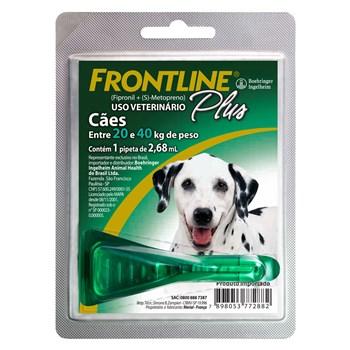 Antipulgas e Carrapatos Frontline Plus Cães de 20Kg a 40Kg