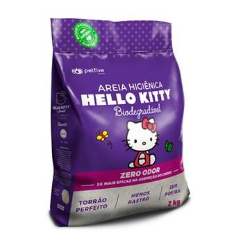 Areia Sanitária Hello Kitty Zero OdorGrãos Pequenos