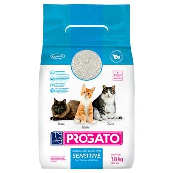 Areia Sanitária Progato Sensitive Gatos Grãos Finos e Pequenos