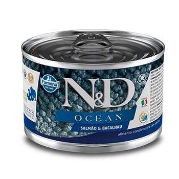 Lata N&D Ocean Cães Adulto Wet Food Salmão