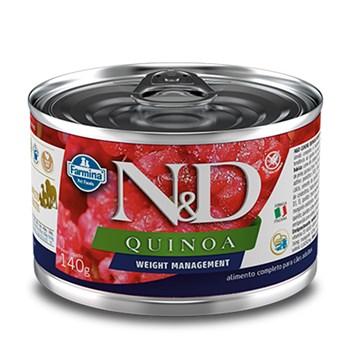 Lata N&D  Quinoa Weight Management Cães Adultos Cordeiro