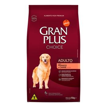 Ração Gran Plus Choice Cães Porte Médio e Grande Adultos Carne e Frango