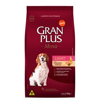 Ração Gran Plus Menu Cães Light Todas as Raças Adultos Carne