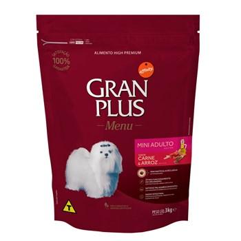 Ração Gran Plus Menu Cães Mini Adultos Carne