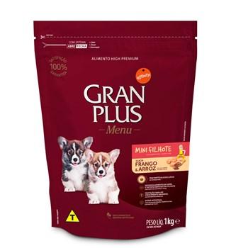Ração Gran Plus Menu Cães Mini Filhotes Carne e Frango