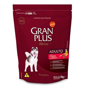 Ração Gran Plus Menu Raças Cães Médias e Grandes Adultos Carne