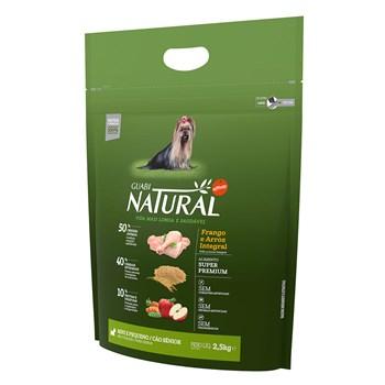 Ração Guabi Natural Cães Raças Mini Pequeno Sênior Frango