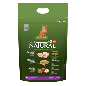 Ração Guabi Natural Gatos Adultos Frango