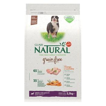 Ração Guabi Natural Grain Free Cães Raças Médias Adultos Frango