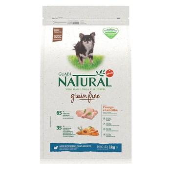 Ração Guabi Natural Grain Free Cães Raças Pequenas e Mini  Adultos Frango