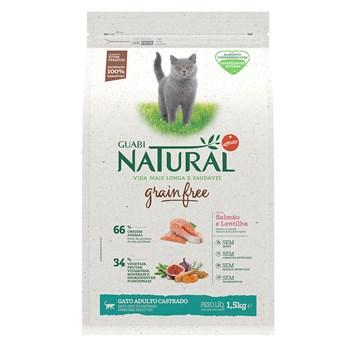 Ração Guabi Natural Grain Free Gatos Castrados Adultos Frango