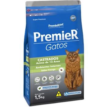 Ração Premier Frango 12+ - Gatos Idosos Castrados