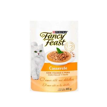Ração Purina Fancy Feast Casserole Com Frango e Peru - Gatos Adultos