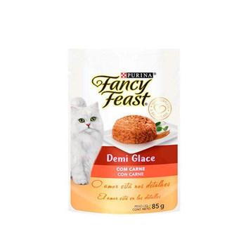 Ração Purina Fancy Feast Demi Glace Com Carne - Gatos Adultos