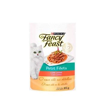 Ração Purina Fancy Feast Petit Filé Com Carne - Gatos Adultos