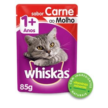 Ração Whiskas Sachê Carne ao Molho - Gatos Adultos