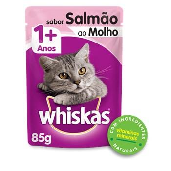 Ração Whiskas Sachê Salmão ao Molho - Gatos Adultos