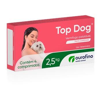 Vermífugo Cães Top Dog até 2,5Kg