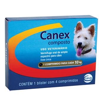 Vermifugo Canex Composto Cães Até 10Kg