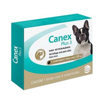 Vermifugo Canex Plus 3 Cães Até 10Kg