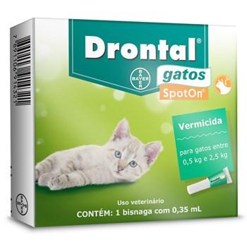 Vermífugo Drontal Gatos Spot On 0,5Kg até 2,5Kg