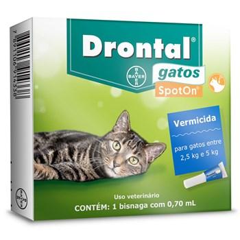 Vermífugo Drontal Gatos Spot On 2,5Kg até 5Kg